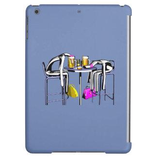 Hull Blows of blue bar woman 4 iPad iPad Air Cover