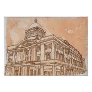 Hull City Hall (In Tea and Coffee) Poster