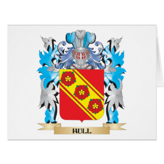 Hull Coat of Arms - Family Crest Large Greeting Card