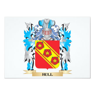 Hull Coat of Arms - Family Crest 5x7 Paper Invitation Card