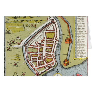 Hull, detail from map of North and East Ridings Card