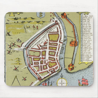Hull, detail from map of North and East Ridings Mouse Pad