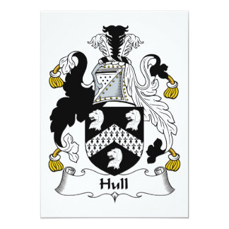 Hull Family Crest 5x7 Paper Invitation Card