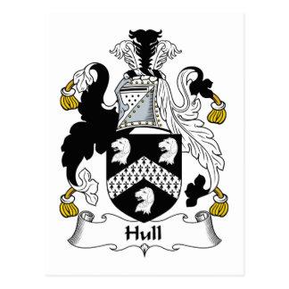 Hull Family Crest Postcard