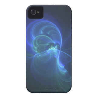 Hull fractal I-phon blue Infinity iPhone 4 Cover