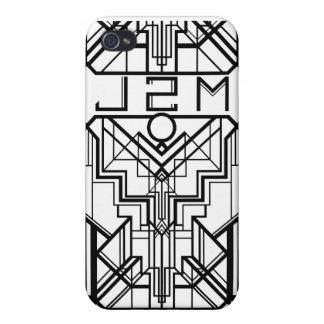Hull Iphone 4 monochromic Art Deco J2M iPhone 4/4S Cases