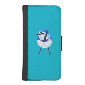 Hull Iphone 5/5S blue Jay Wallet Phone Case For iPhone SE/5/5s