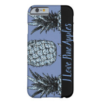 Hull iPhone 6/6s, Blue Leopard/Black Pineapple Barely There iPhone 6 Case