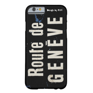 """Hull iPhone 6 """"Road of Geneva"""" (black) by REN Barely There iPhone 6 Case"""