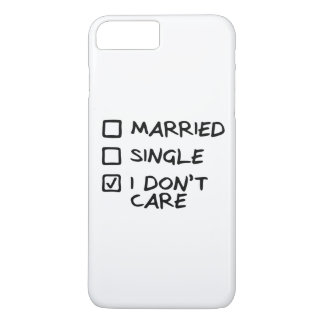 """Hull iPhone 7+ """"I don' T care"""" (I give myself iPhone 8 Plus/7 Plus Case"""