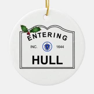 Hull MA Ceramic Ornament