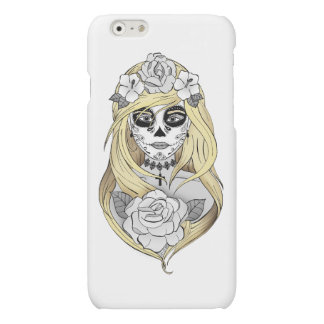 Hull Puts Santa Muerte blonde Matte iPhone 6 Case