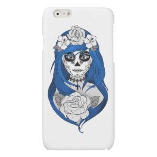 Hull Puts Santa Muerte blue Matte iPhone 6 Case