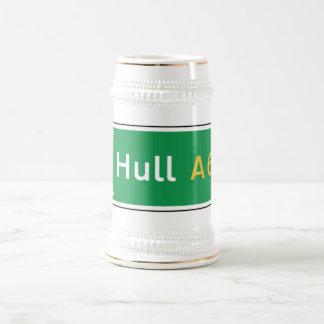 Hull, UK Road Sign Beer Stein