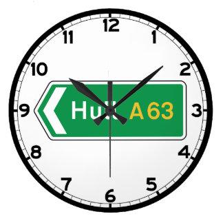 Hull, UK Road Sign Clock