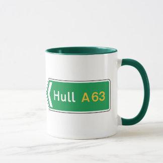 Hull, UK Road Sign Mug