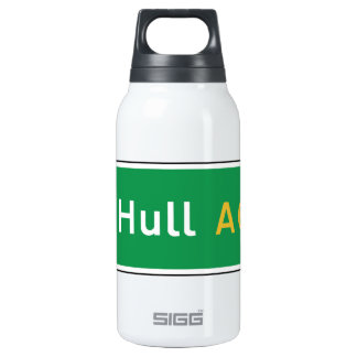 Hull, UK Road Sign 10 Oz Insulated SIGG Thermos Water Bottle