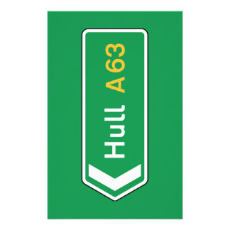 Hull, UK Road Sign Personalized Stationery