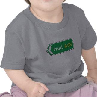 Hull, UK Road Sign Tee Shirt