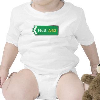 Hull, UK Road Sign Baby Bodysuit