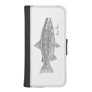"Hull with wallet iPhone5 ""Fario Trout """