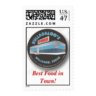 Hullabaloo Diner Best Food in Town! - Customized Postage