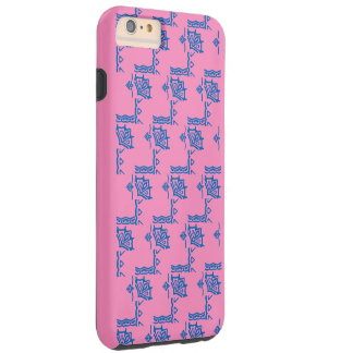 Hülle claro rosa azul a la moda iPhone 6 Funda Resistente iPhone 6 Plus