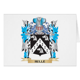 Hulle Coat of Arms - Family Crest Stationery Note Card