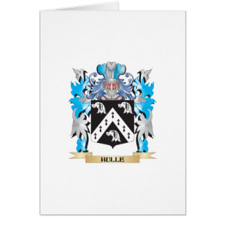 Hulle Coat of Arms - Family Crest Greeting Card