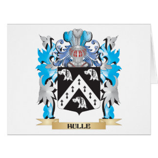 Hulle Coat of Arms - Family Crest Large Greeting Card