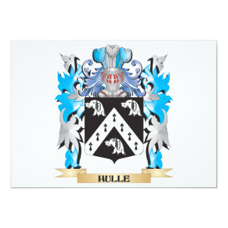 Hulle Coat of Arms - Family Crest 5x7 Paper Invitation Card