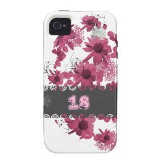 hülle con rosa blumenmuster modelo flor
