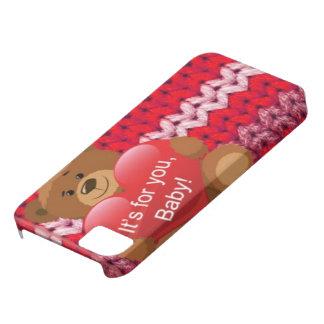 Hülle Its for You baby Bär Herz strickmotiv Etui Fürs iPhone 5