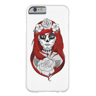 Hulls Boxes Santa Muerte red Barely There iPhone 6 Case