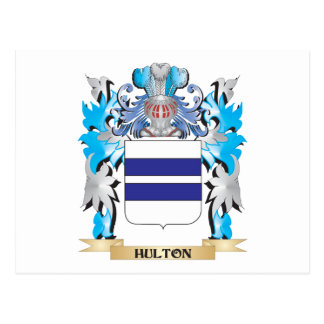 Hulton Coat of Arms - Family Crest Postcard