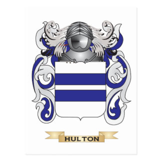 Hulton Coat of Arms (Family Crest) Postcard