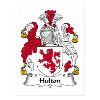 Hulton Family Crest Postcard
