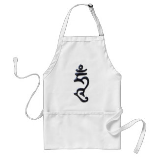 Hum Enlightened Mind-liquid ink Adult Apron