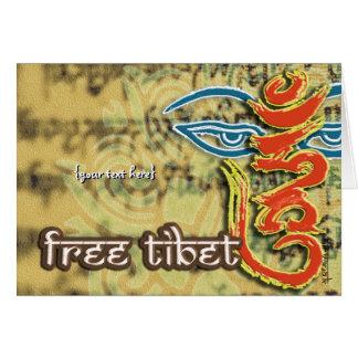 <HUM>- FREE TIBET CARD