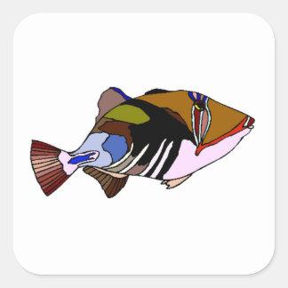 Huma Huma Triggerfish Square Sticker