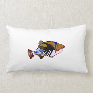 Huma Huma Triggerfish Throw Pillows