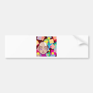 Human Abstract squares Dots Colors Vector art Bumper Sticker