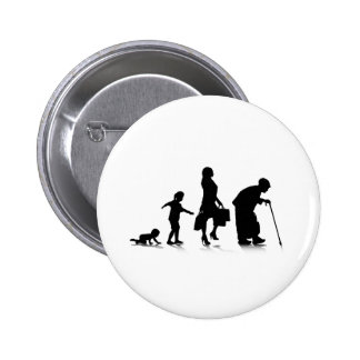 Human Aging_5 Pinback Buttons