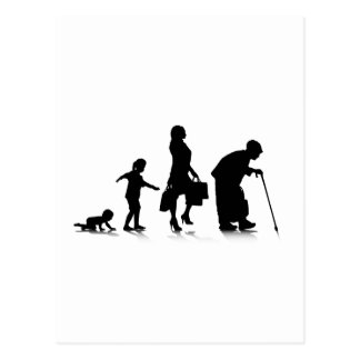 Human Aging_5 Postcard