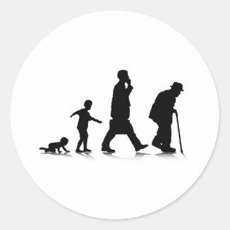 Human Aging Classic Round Sticker