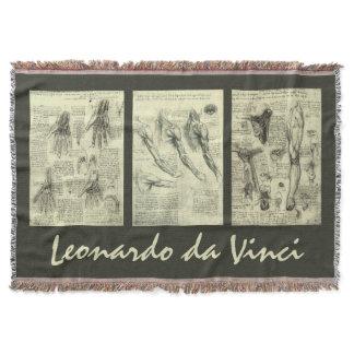 Human Anatomy by Leonardo da Vinci Throw