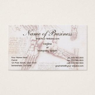 Human Anatomy, Feet Skeletons by Leonardo da Vinci Business Card
