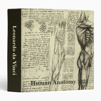 Human Anatomy Male Muscles by Leonardo da Vinci Binder