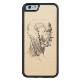 Human Anatomy | Muscles of the Head (ca. 1852) Carved Maple iPhone 6 Bumper Case