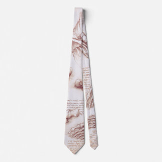 Human Anatomy Skeleton Foot Bones by da Vinci Neck Tie